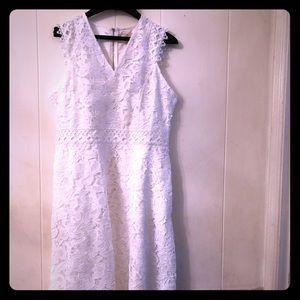 Ted Baker V Neck Lace Midi Dress EU 4 US 10